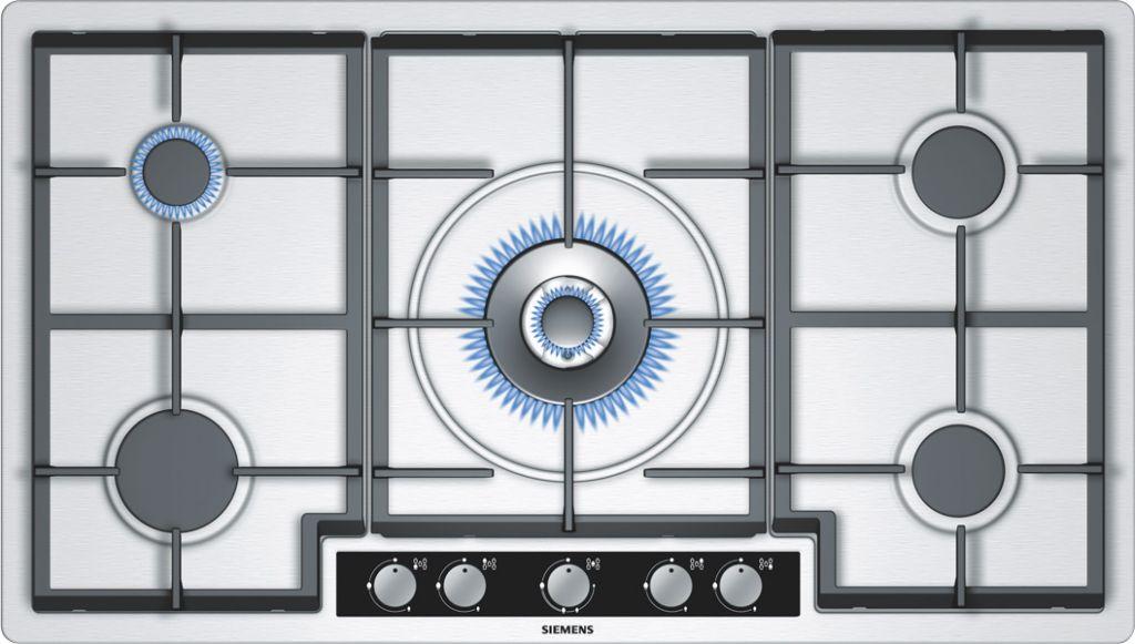 Plaque gaz de 90 cm de large et plus pas cher - Table de cuisson gaz 5 feux inox 90 cm ...