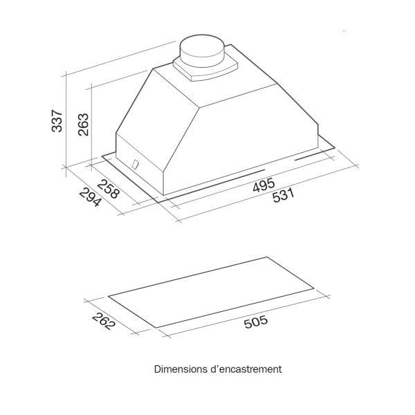 hotte falmec gruppo3130 pas cher. Black Bedroom Furniture Sets. Home Design Ideas