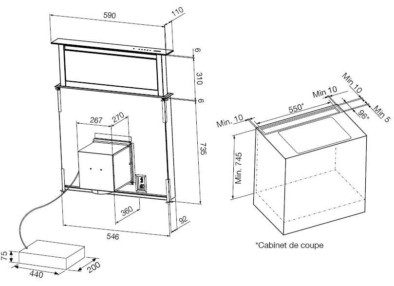hotte airlux ahv68bk pas cher. Black Bedroom Furniture Sets. Home Design Ideas