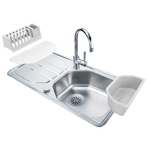 Achat Evier Inox + Mitigeur One V2 Franke  PACKAll In One nouveauté