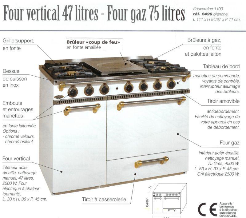 Cuisini re piano cuisson godin pas cher - Table de cuisson blanche ...
