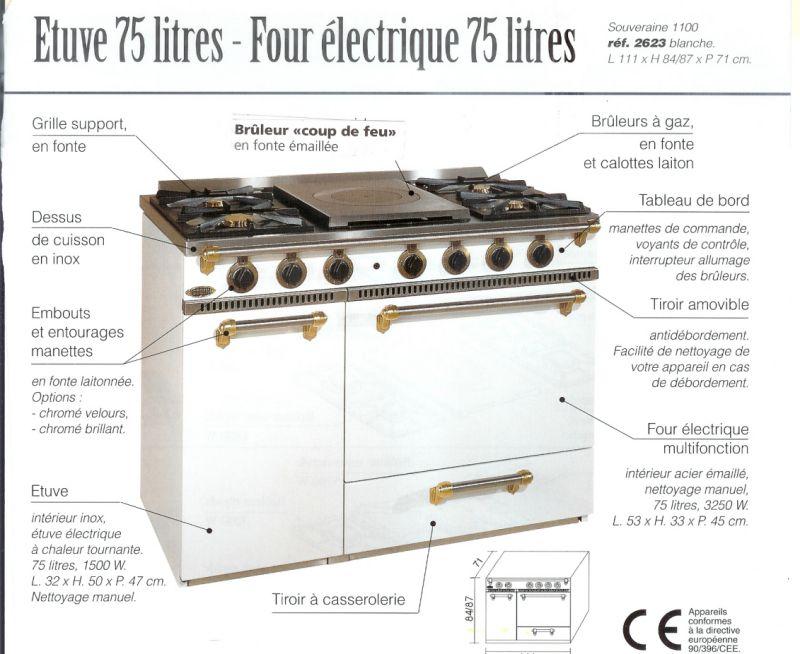 Cuisinière Godin 2623 BLANC Pas Cher