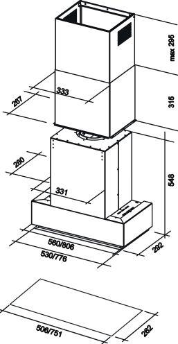 hotte falmec grupnrs3130 pas cher. Black Bedroom Furniture Sets. Home Design Ideas