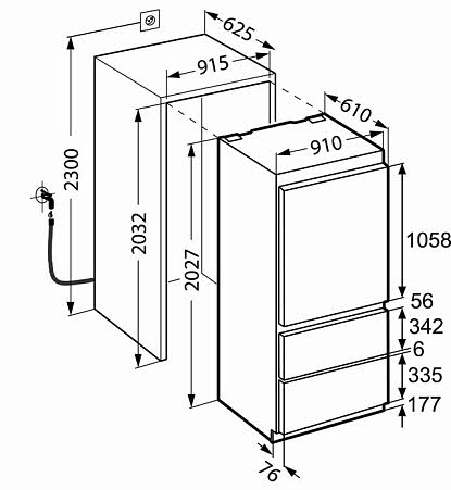 liebherr frigo am ricain int grable encastrable ecbn6156g 1 pas cher. Black Bedroom Furniture Sets. Home Design Ideas