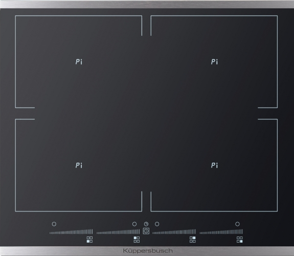 plaque 4 foyers induction en 60 cm de large kuppersbusch pas cher. Black Bedroom Furniture Sets. Home Design Ideas