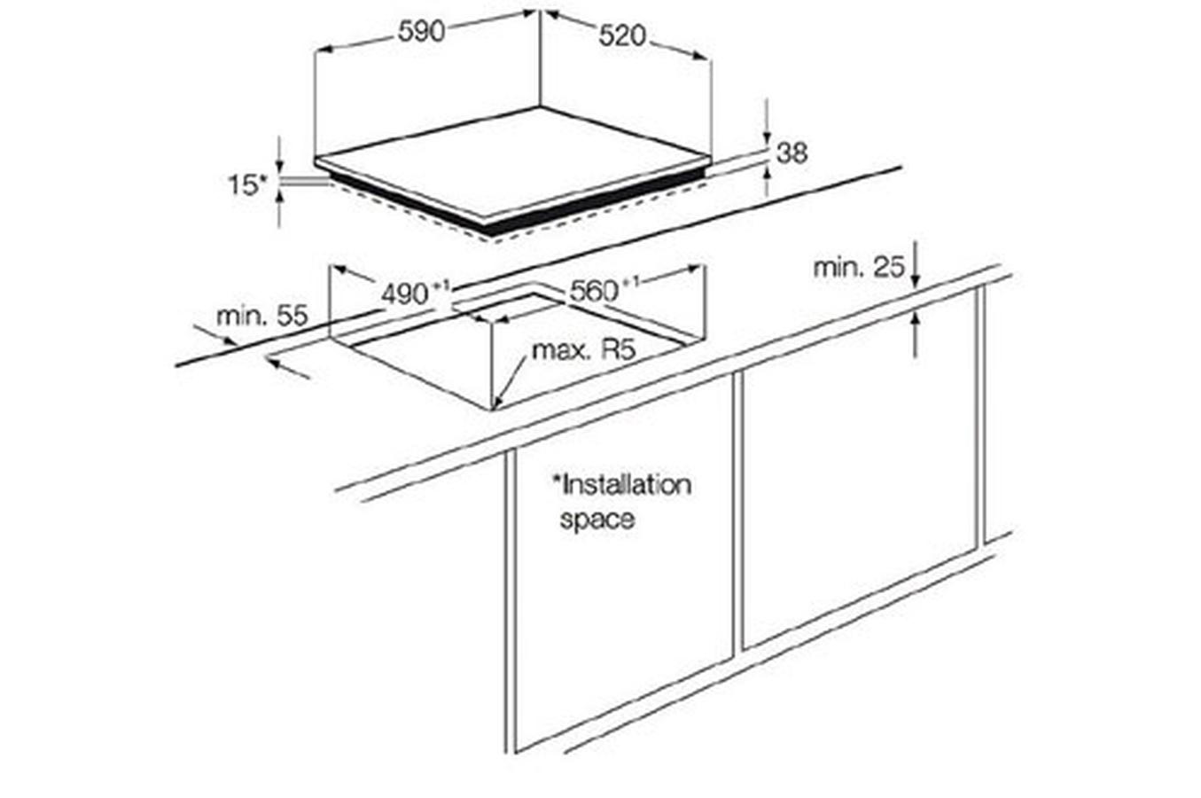 Dimension Frigo Encastrable Ikea plaque electrolux ehf6547fok pas cher