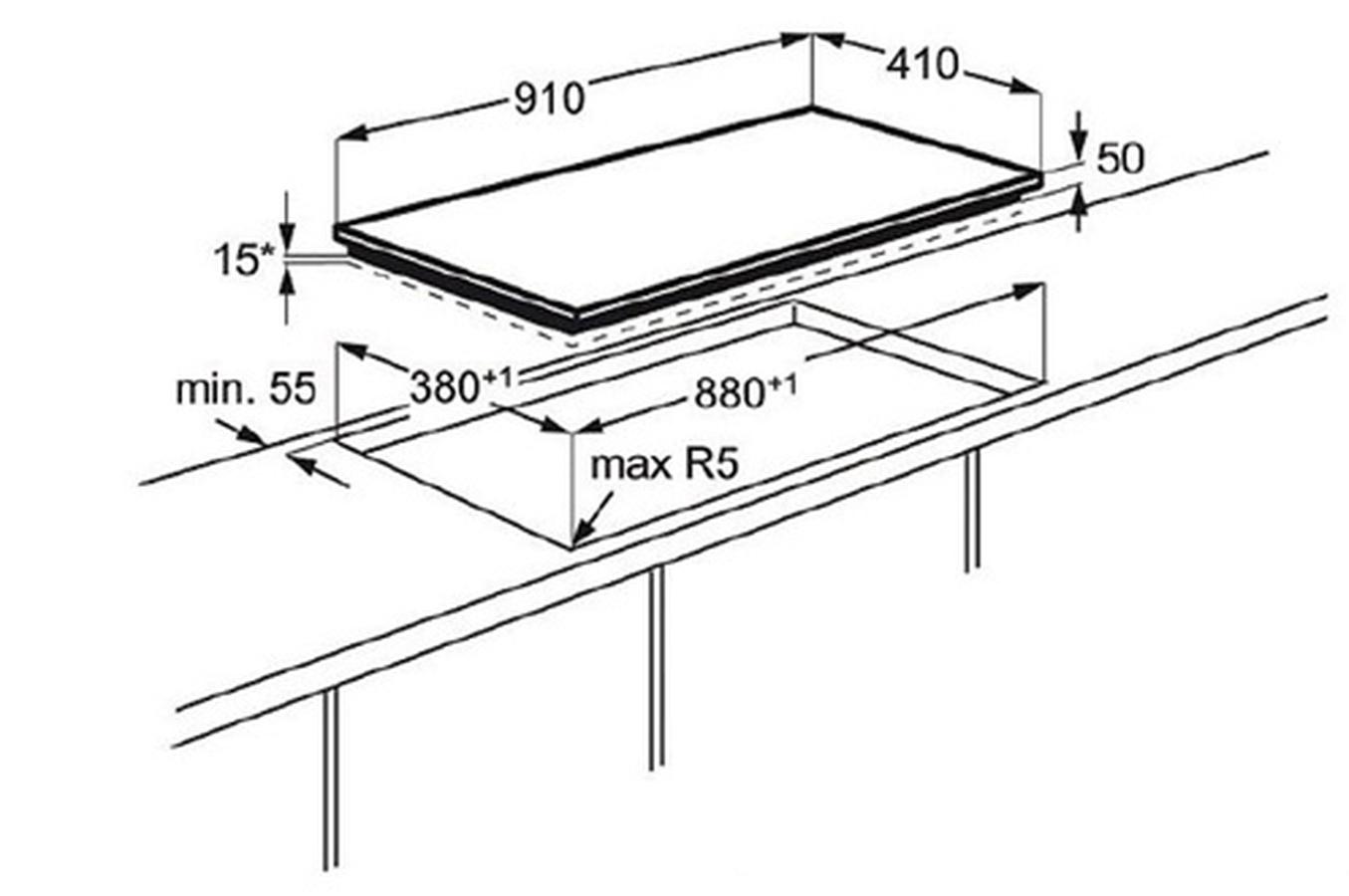 plaque electrolux ehl9530fok pas cher. Black Bedroom Furniture Sets. Home Design Ideas