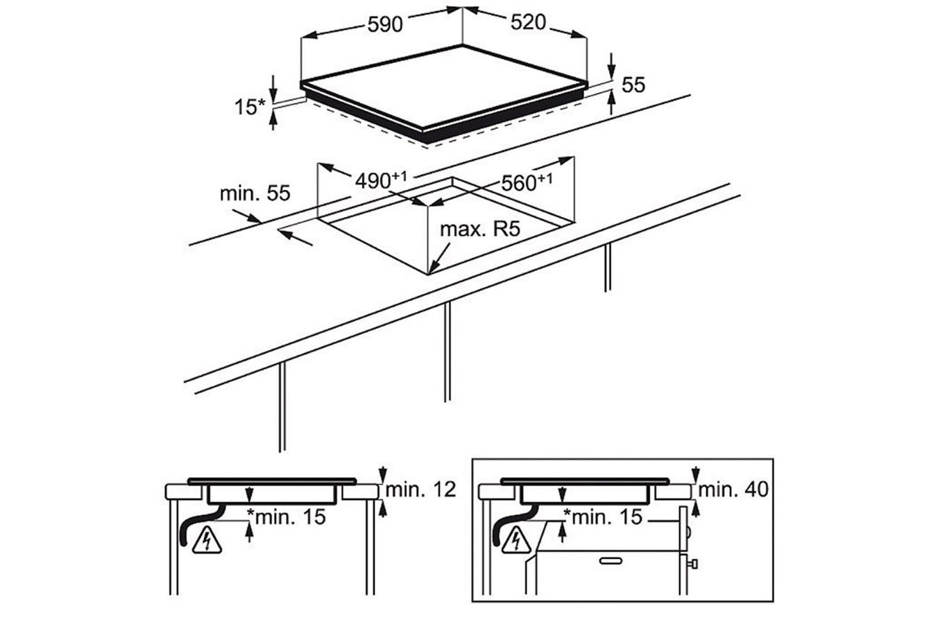 plaque electrolux ehn6532iwp pas cher. Black Bedroom Furniture Sets. Home Design Ideas