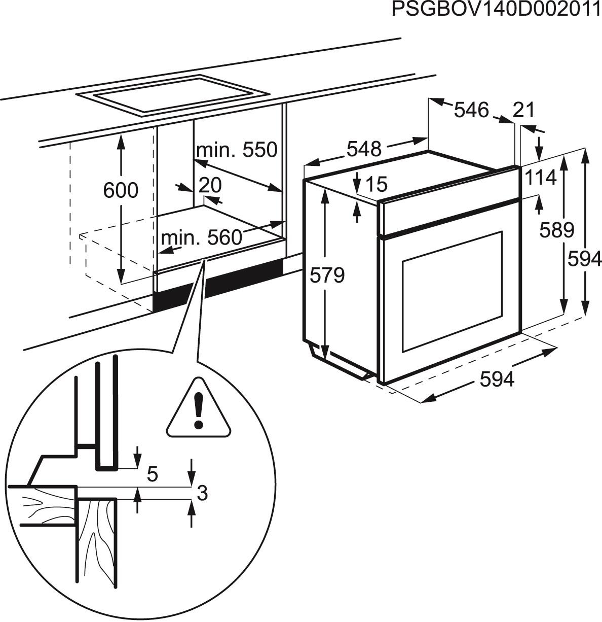 four electrolux eob8946aox pas cher. Black Bedroom Furniture Sets. Home Design Ideas