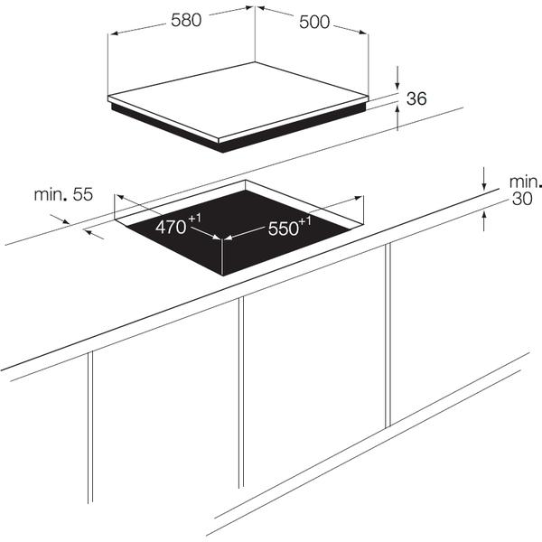plaque faure fgg62414ta pas cher. Black Bedroom Furniture Sets. Home Design Ideas