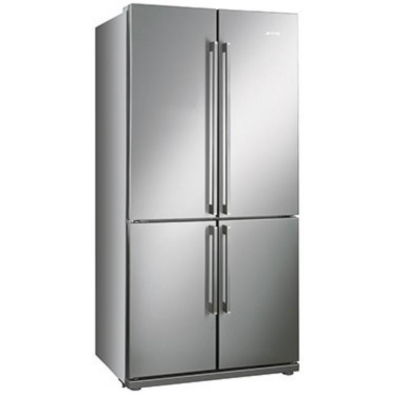 R frig rateur am ricain 4 portes smeg fq60xp sur for Refrigerateur americain porte miroir