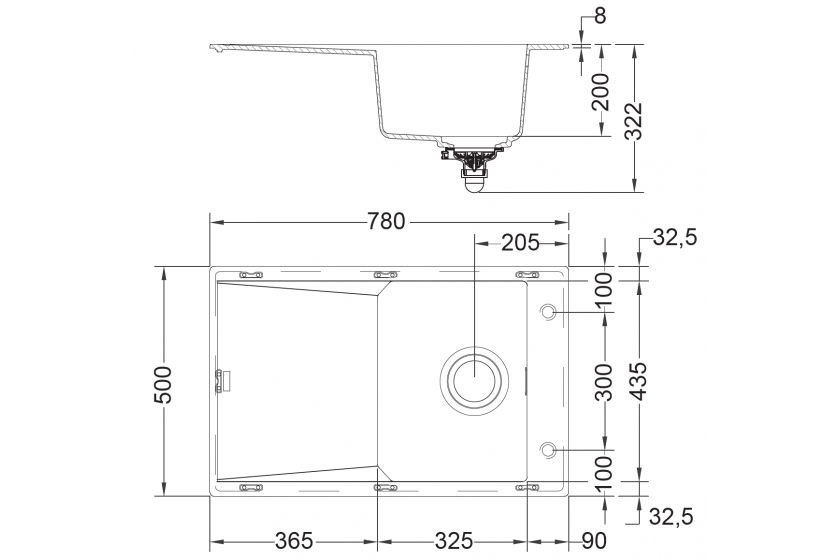 evier franke fxg611 78 onyx pas cher. Black Bedroom Furniture Sets. Home Design Ideas