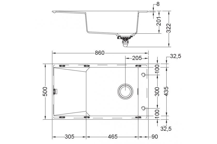 evier franke fxg611 86 onyx pas cher. Black Bedroom Furniture Sets. Home Design Ideas