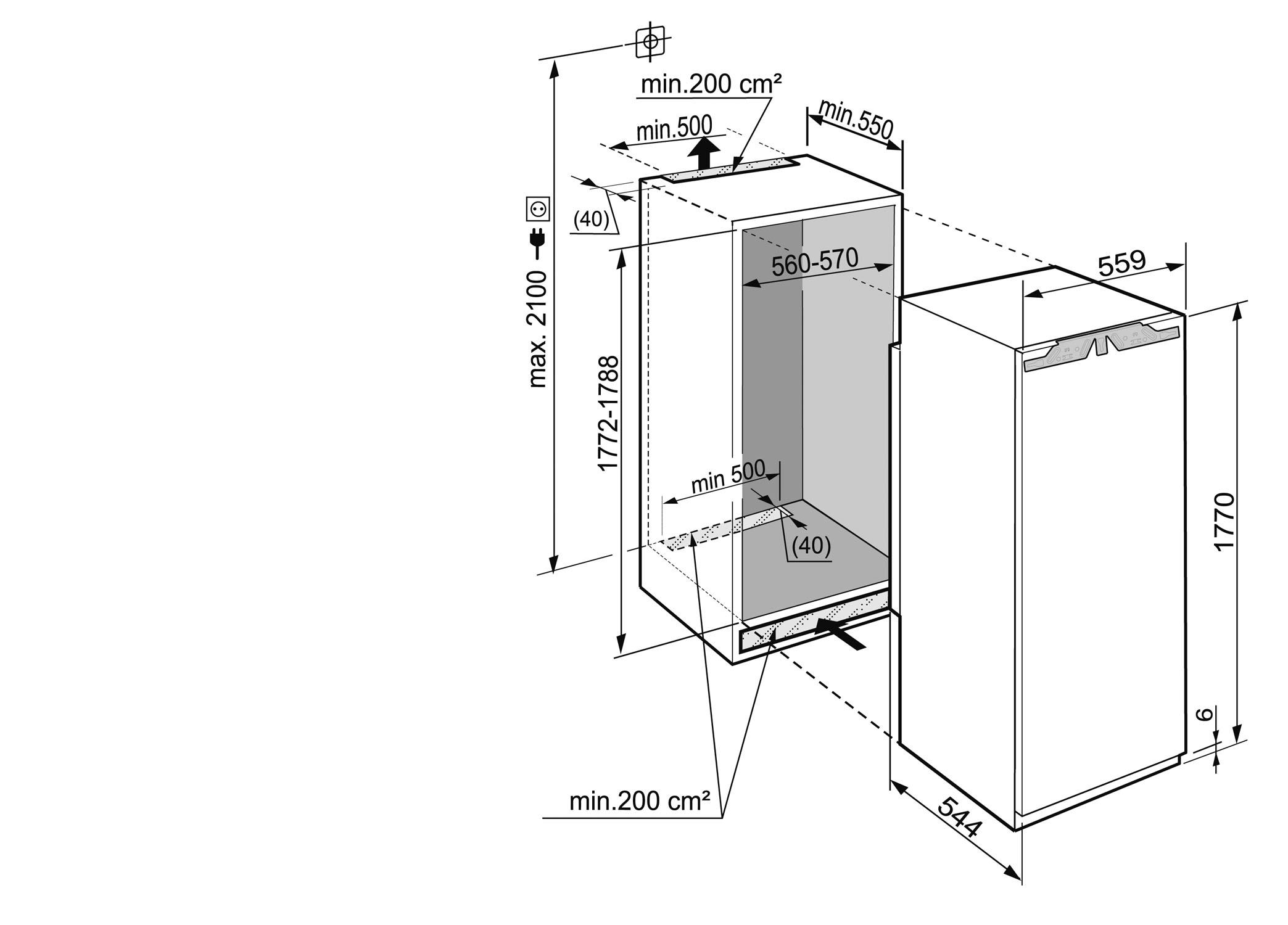 R frig rateur liebherr ik3510 pas cher for Refrigerateur sous plan pas cher