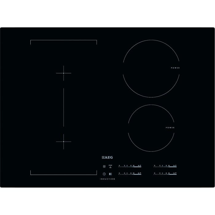 plaque induction en 70 moins de 80 cm de large aeg pas cher. Black Bedroom Furniture Sets. Home Design Ideas