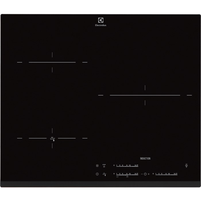 plaque 3 foyers induction en 60 cm de large electrolux pas. Black Bedroom Furniture Sets. Home Design Ideas
