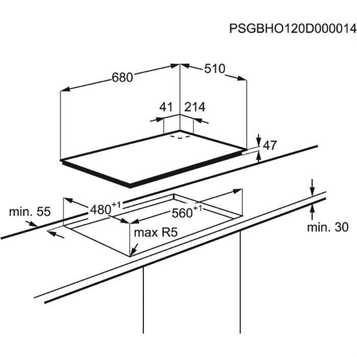 plaque electrolux egt7353yox pas cher. Black Bedroom Furniture Sets. Home Design Ideas