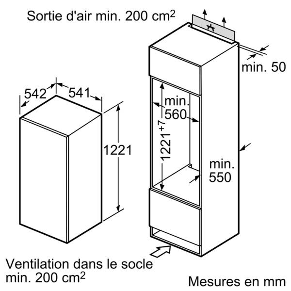 electromenager froid refrigerateur siemens KIRX