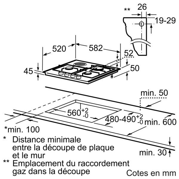 plaque siemens ec645yb80e pas cher