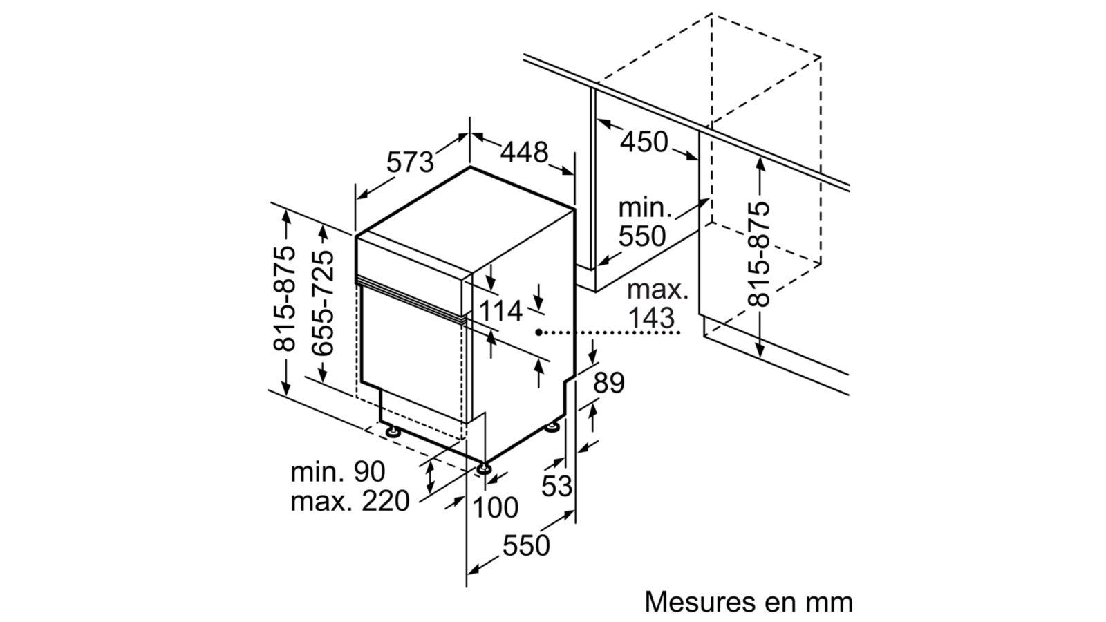 lave vaisselle int grable bosch spi50e92eu pas cher sur. Black Bedroom Furniture Sets. Home Design Ideas