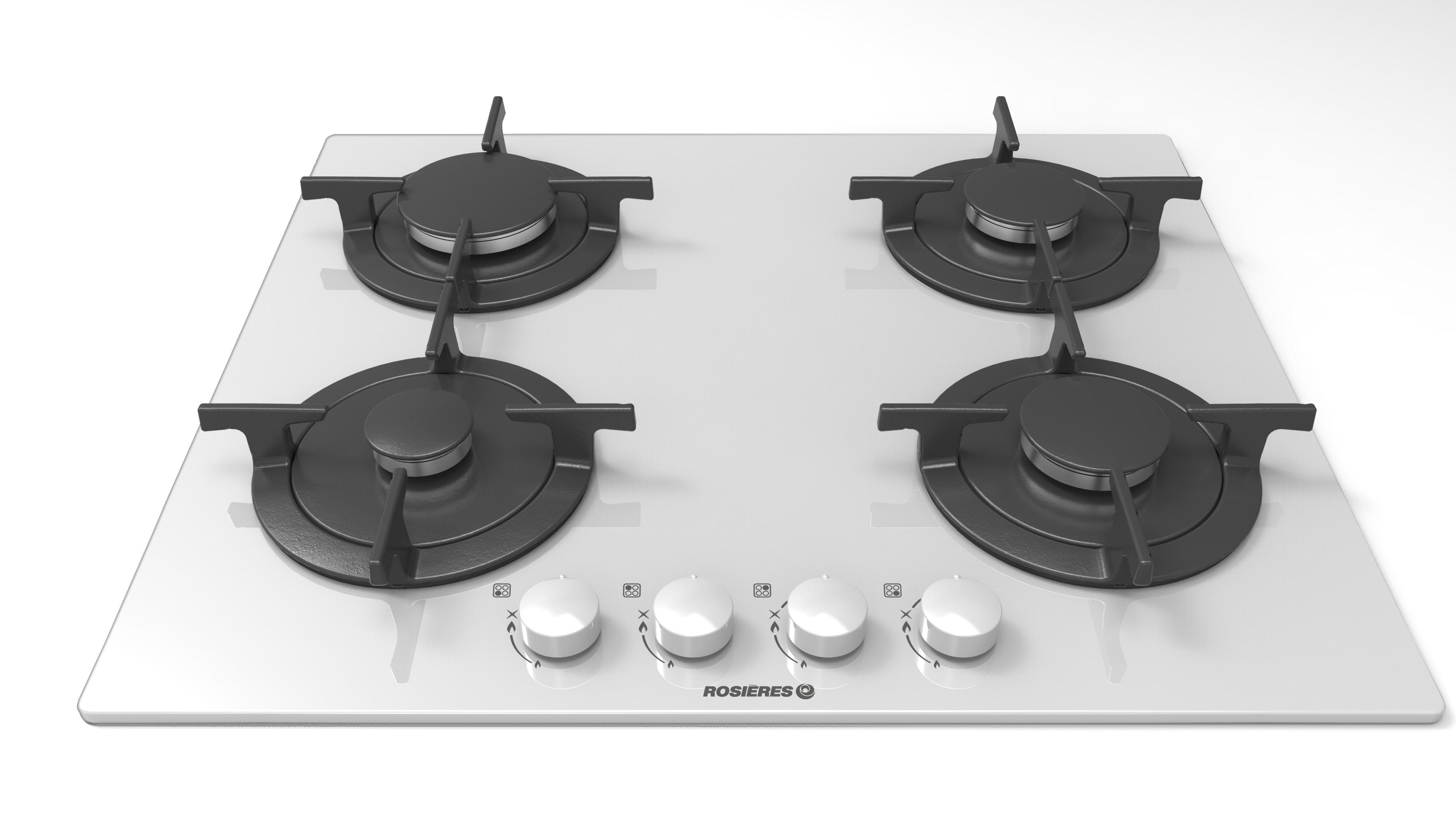 plaque 4 foyers gaz de 60 cm de large pas cher. Black Bedroom Furniture Sets. Home Design Ideas