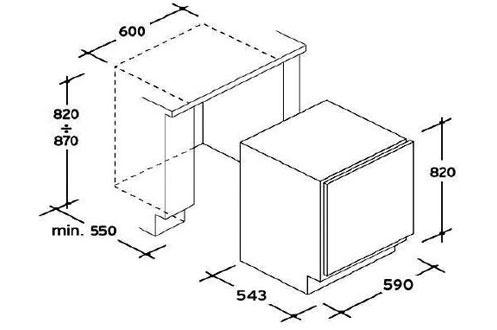 R frig rateur rosieres rbp160 pas cher for Refrigerateur sous plan pas cher