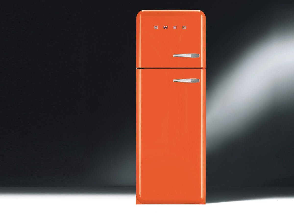 refrigerateur orange. Black Bedroom Furniture Sets. Home Design Ideas
