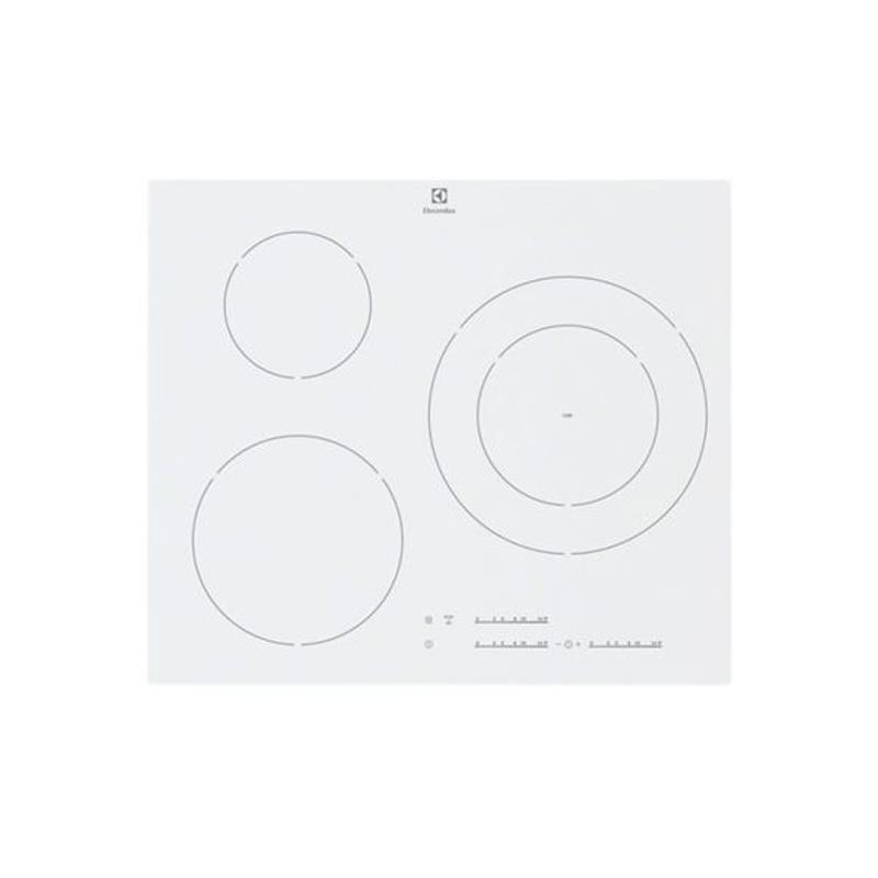 Plaque 3 foyers induction en 60 cm de large electrolux pas cher - Plaque induction blanche electrolux ...